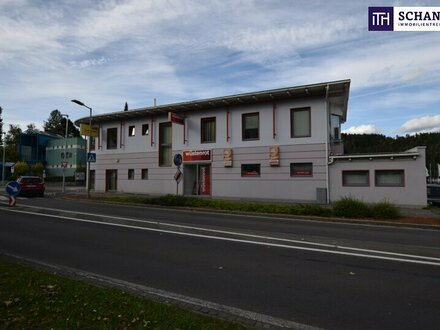 HOCHFREQUENZLAGE + TOP SICHTBARKEIT! HERVORRAGEND! Gewerbeobjekt mit rund 5 % Rendite in Judenburg!