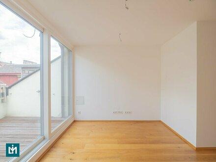 ERSTBEZUG: Moderne 2 Zi. DG-Terrassenwohnung in guter Lage