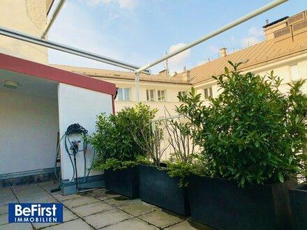 Sonnendurchflutete, hochwertig sanierte DG Terrassen-Maisonette nächst Graben und Albertina