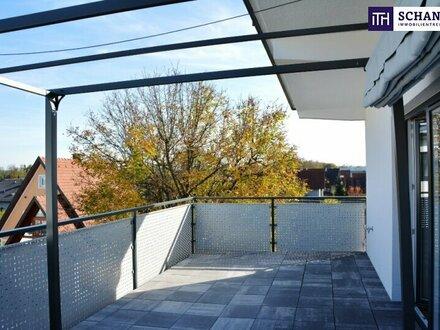 JETZT! Barrierefreie Terrassenwohnung mit intelligentem Grundriss + überdachtem Abstellplatz + TOP-Anbindung!