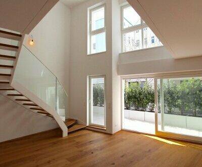 Terrassen-Maisonette im Servitenviertel! Hochwertiger 5-Zimmer-Neubau mit luftiger Galerie