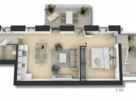 ++NEU++ Großzügige 2-Zimmer ALTBAU-Wohnung mit Terrasse und Balkon (34m²), perfekt für anspruchsvolle Pärchen!