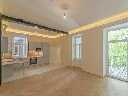++NEU++ Hochwertiger 2-Zimmer Altbau-ERSTBEZUG mit 14m² Balkon! FREI VERMIETBAR!