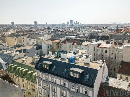 """PENTHOUSE - EXTREM Raumhöhe (3,3m) trifft traumhaften """"Wiener Werkstätten""""-Stilaltbau nahezu ohne Schrägen + Flachdach mit…"""