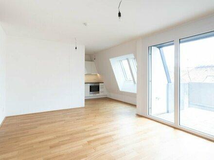 2 Zimmer DG Wohnung! West-Terrasse mit Fernblick! Erstklassige Ausstattung! ab JETZT