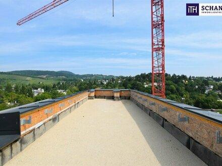 AUSSICHT PUR! Riesige Dachterrasse mit Rundumblick Richtung Stadt und Weinberge + riesige Wohnküche + perfekte Raumaufteilung…