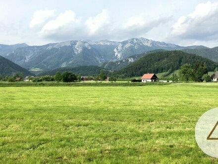 Schönes ebenes Baugrundstück in Ruhelage mit Bergblick