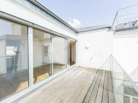 Tolle DG-Wohnung mit 4-Zimmern und Terrasse in 1070 Wien nahe Westbahnhof zu vermieten!