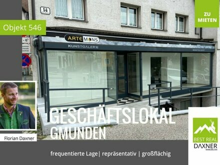 Geräumiges Geschäftslokal in gut frequentierter Zentrumslage von Gmunden!