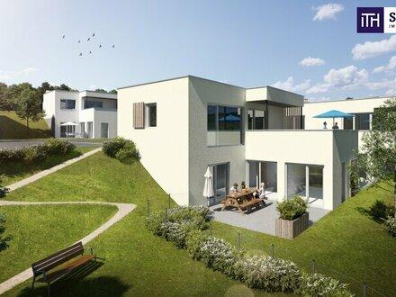 GENIALE Doppelhaushälfte in wunderschöner Grünlage mit atemberaubendem FERNBLICK + 2 Gärten + Südwest-Terrassen + hochwertiger…