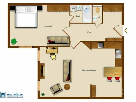 ALTSTADTFLAIR PUR | 2-Zimmer-Altbauwohnung ca. 75 m2 für Wohngenießer | Bruderhof Linzergasse/Paris-Lodron-Str.