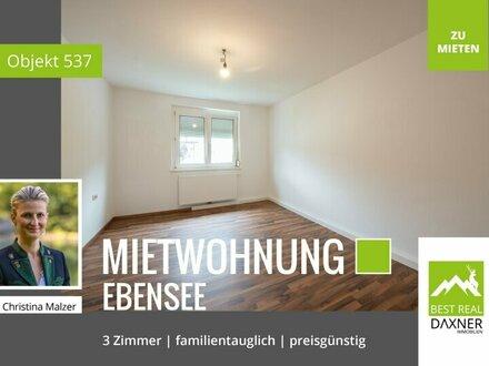 Preiswerte 3-Zimmer (69m²) Mietwohnung in Ebensee!