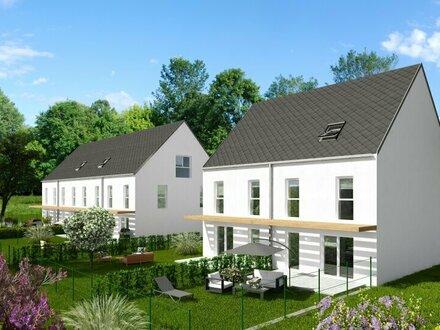 Einzigartiges Doppelhaus mit großem Garten und unverbaubarem Fernblick zum Schneeberg in Ebreichsdorf