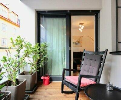 EUM - Voll möbliertes Apartment mit Garage! 2-Zimmer-Neubau mit Loggia im 2. Liftstock