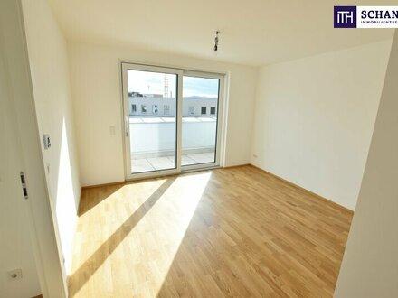 Herrlicher Erstbezug mit feiner Terrasse und toller Möglichkeit zur Anmietung weiterer 30 m² Dachterrasse!