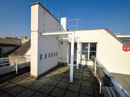 Vermietet wird ein modernes Büro mit Terrasse Nähe Schloss Belvedere