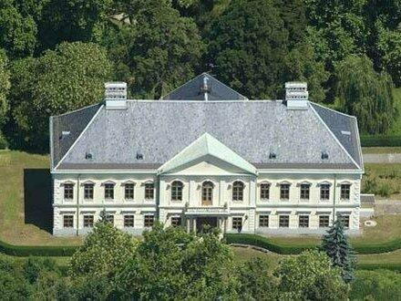 Vornehmes Schloss auf 7 Hektar- Grundstück mit Fluss! Förderungen ! Seminarsitz Firmensitz Reiten
