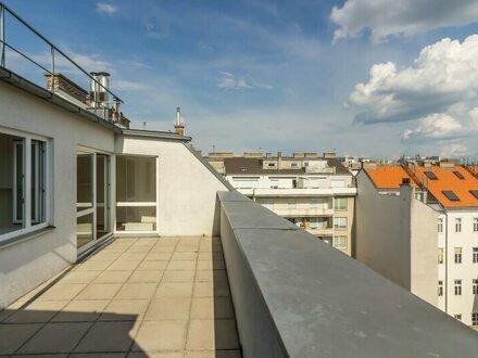++NEU** Großzügiger 4-Zimmer DG-Erstbezug mit 30m² Terrasse, BESTLAGE in 1080!
