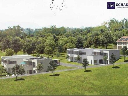 ECK-Terrassenhaus mit zauberhaftem Ausblick + grandiosen Freiflächen + hochwertigen Materialien!
