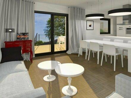 TERRASSENTRAUM SÜDSEITIG - Elegante Doppelhaushälfte in Massivbauweise - belagsfertig - inklusive 2 Stellplätzen
