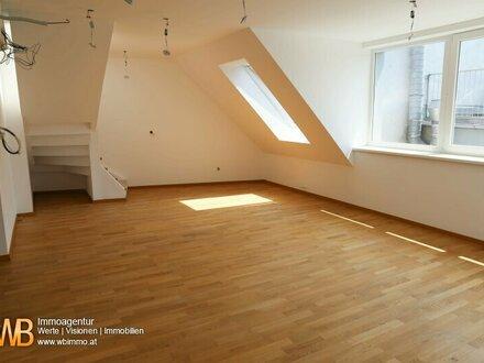 Hochwertige 4-Zimmer DG-Maisonette, Erstbezug, 13 m² Dachterrassen!!!