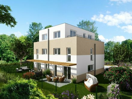 Neues, günstiges und modernes Doppelhaus in Mannswörth mit tollem Fernblick und Dachterrasse