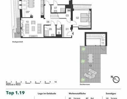 +++ STYLISCHE DACHGESCHOSSWOHNUNG! +++ 4-Zimmer Dachgeschoss Eigentumswohnung mit großer Terrasse über den Dächern Wiens