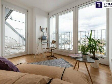 Ganz oben und keine Dachschrägen! Top 2-Zimmer-Wohnung im Neubau mit sensationellen Terrassen - PROVISIONSFREI - ab 05/2020.