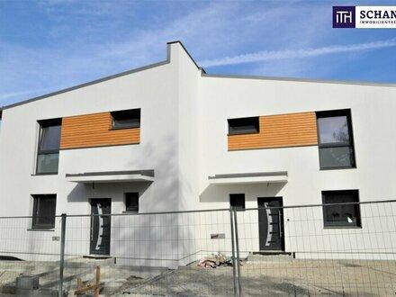 Hier lässt sich´s leben: Doppelhaushälfte mit perfekter Raumaufteilung auf Eigengrund am Wasser in Wien-Nähe!