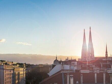 PALAIS KOLIN - exklusives Penthouse über den Dächern mit großen TERRASSEN + JACUZZI + GARAGE in 1090 Wien