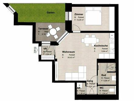 ++NEU++ Hochwertiger 2-Zimmer ALTBAU-ERSTBEZUG mit Terrasse/Garten, optimale Raumaufteilung!