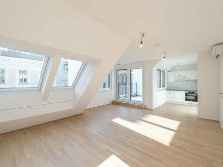 Six in the City: Premium DG-Apartment, BESTLAGE, 3-Zimmer ERSTBEZUG mit Terrasse! hochwertige Ausstattung!