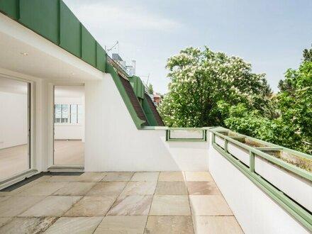 HERRLICHE DACHGESCHOSSMAISONETTE mit Terrasse im schönen COTTAGEVIERTEL – ERSTBEZUG