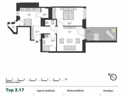 +++ TERRASSENTRAUM! +++ Sanierte 2 Zimmer Eigentumswohnung mit großer Loggia in Stadtnähe