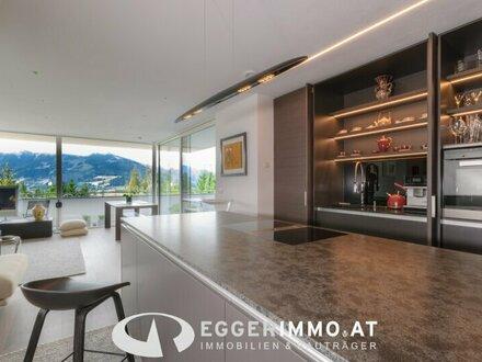 5760 Saalfelden / Bachwinkl: die Gelegenheit: einzigartige Designer Wohnung 78m², unverbaubarer Ausblick , 47m² sonnige Terrasse,…