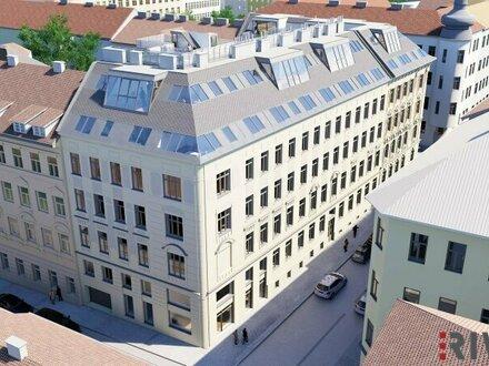 Architektur PUR - exklusive Dachgeschosswohnung mit hofseitiger Terrasse in wunderschönem Gründerzeithaus| komplett auf…