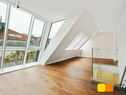 Terrasse auf Wohnebene: exklusive Dachgeschoss-Maisonette im Alsergund