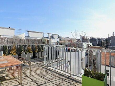Helles Dachgeschoß mit großer Dachterrasse! 3-Zimmer-Wohnung mit tollen Raumhöhen