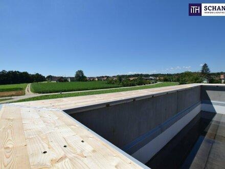 ITH TRAUMHAFTES PENTHOUSE mit WOW EFFEKT! 69 m² SONNENTERRASSE und 14,2 m² WESTTERRASSE! 94 m², 4 Zi GRÜNLAGE!