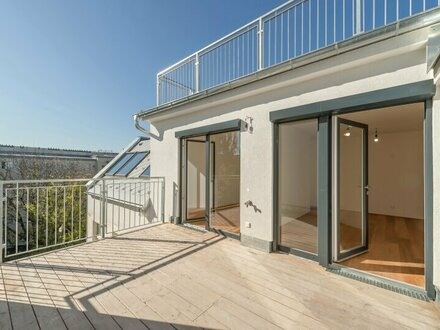 ++BLICK aufs WASSER++ 3-Zimmer DG-Maisonette mit Donaublick u. riesiger, hofseitiger Dachterrasse! ++ERSTBEZUG++