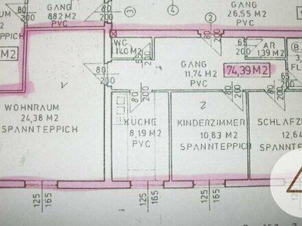 74m2 Wohnung mit Kinderzimmer in Traun - Zentrum