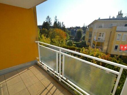Lichtdurchflutete 2 Zimmer Balkonmiete mit Gartenbenützung, Tiefgaragenplatz Nähe Küniglberg