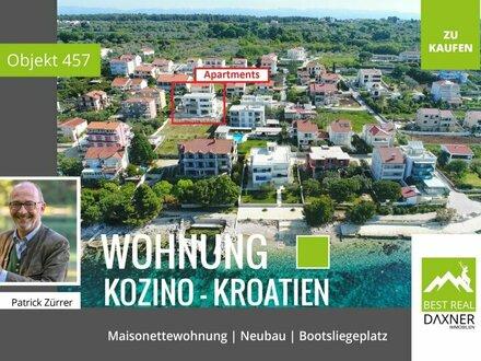 KAPITALANLAGE Maisonettewohnung an der kroatischen Küste. Meerblick!