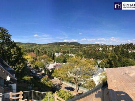 Traumblick! Riesige Dachterrasse mit Rundumblick Richtung Stadt und Weinberge + riesige Wohnküche + perfekte Raumaufteilung…