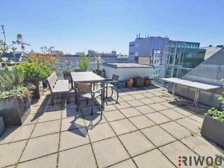 Dachgeschossbüro zwischen Naschmarkt und Mariahilferstraße mit Terrasse!