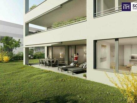 ITH: Oase der Ruhe im Neubau! Eigentumswohnung in Graz! Ihre Gartenwohnung mit Terrasse in Geidorf!
