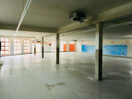 Gewerbehalle mit Freiflächen in gut frequentierter Lage