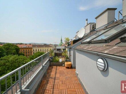 Urban, und doch der Blick ins Grüne - 3,5-Zimmer Maisonette mit Terrasse
