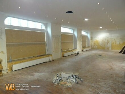 1300m² Nutzfläche, Geschäftslokal, Büroräume & Lager- oder Ausstellungs- oder Veranstaltungsräume