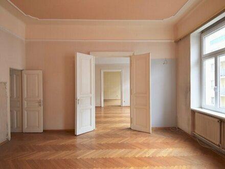 Stil-Altbau in Wieden! Sanierungsbedürftige 3-Zimmer-Wohnung im 2. Stock